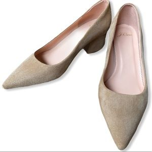 [SOLD]  J. Crew Laney Leather & Suede Pumps